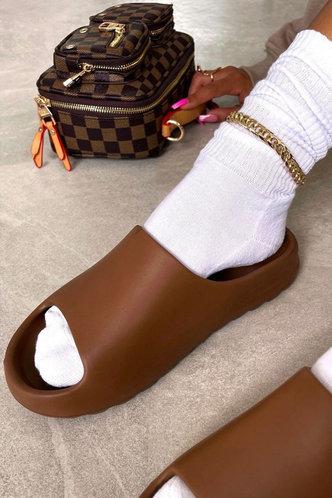front_Cynthia Eunice Brown Slide & Flip Flop