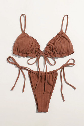 back_Hayley Eden Light Brown Bikini