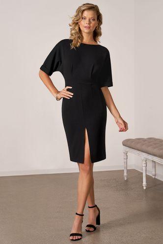 front_Epoch Black Midi Dress
