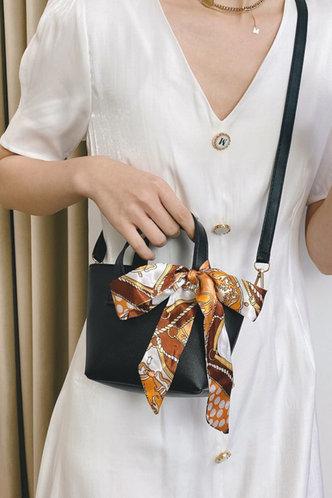 back_Mallory Enid Black Tote Bag