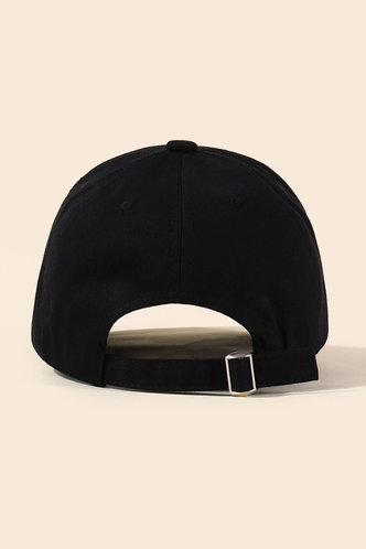 back_Imogene Eleanore Black Baseball Cap