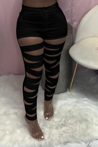 back_Alba Elsie Black Cutout Pants