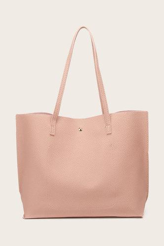 back_Tessie Elvira Coral Pink Tote Bag