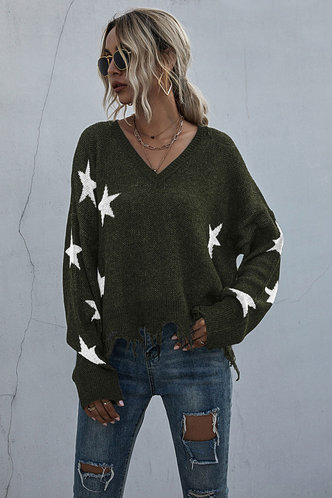 front_Cara Edith Basics Green Sweater