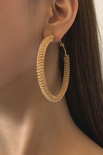 front_Gold Earring