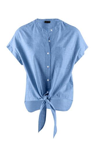 front_Quinta Denim Blue Shorts
