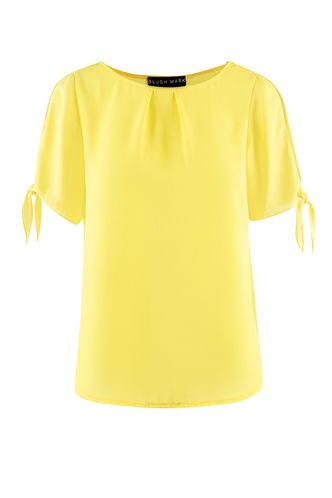front_The City of the Ocean Mustard Yellow Short Sleeve Top