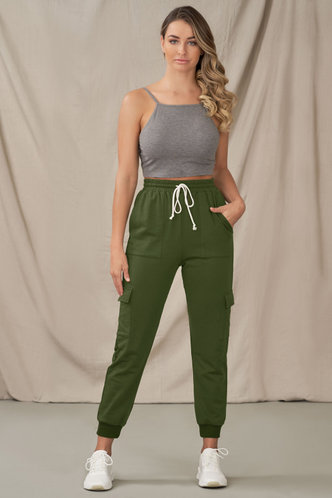 front_New Start Army Green Pants
