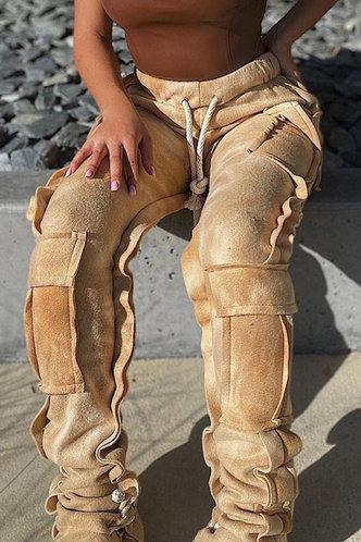 front_Rea Eve Camel Sweatpants