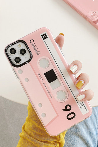 front_Tape Style Pink Cases