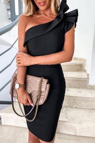 front_Deborah Gimik Black Bodycon Dress
