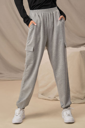 front_Team Player Grey Cargo Joggers