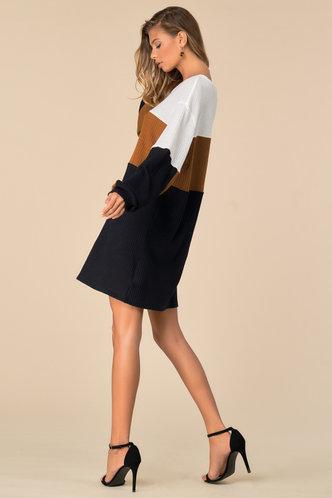 back_Sims Multicolor Colorblock Knit Dress