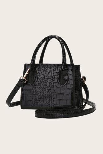 back_Eunice Elsie Black Satchel Bag