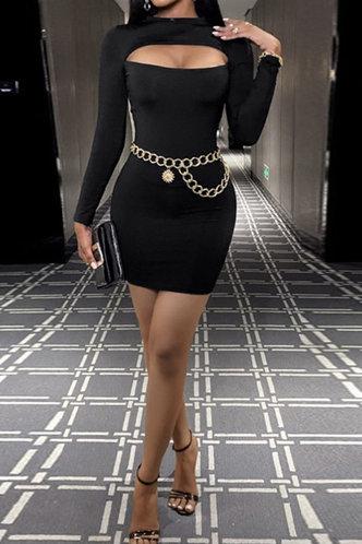 back_Nola Elva Black Cutout Bodycon Dress