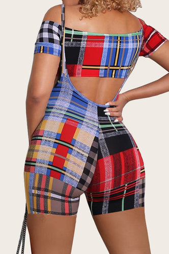 back_Karen Eleanore Colorblock Plaid Set