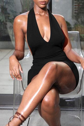 front_Bridget Elva Black Halter Open Back Dress