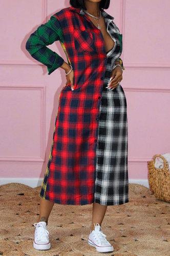 front_Janice Esther Plaid Longline Dress