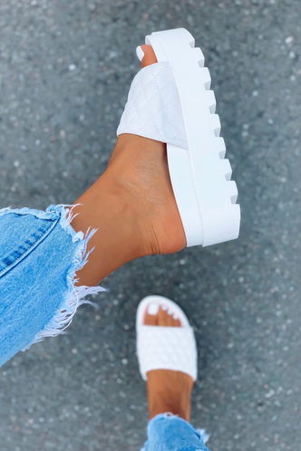 front_Modesty Eunice White Platform Shoes