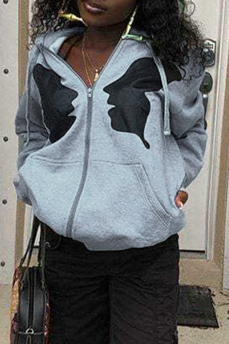 front_Gussie Eve Light Grey Pocket Drawstring Jacket