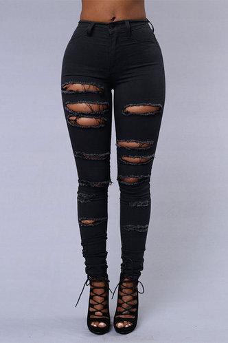 front_Jenny Edwina Black Ripped Jeans