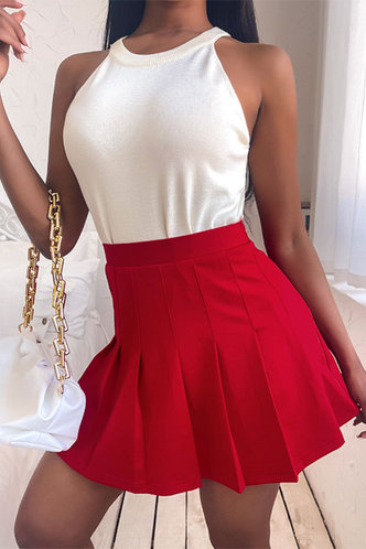 front_Esmeralda Elizabeth Red Skirt