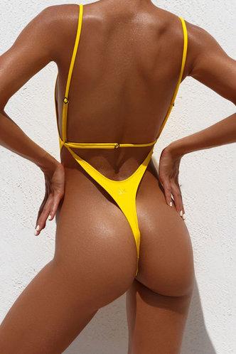 back_Agatha Edwina Yellow Swimwear