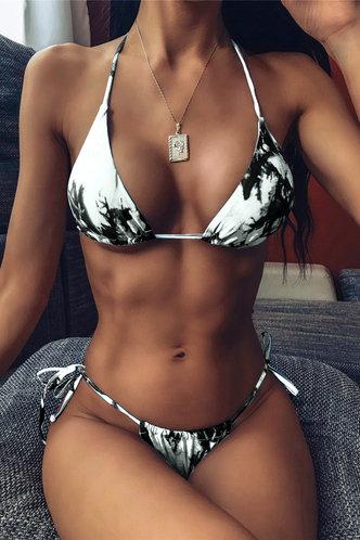 front_Karla Edwina Green Tie Dye Bikini