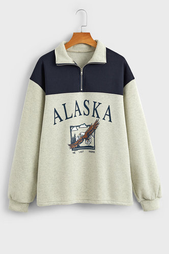 back_Sadie Edith Grey And Navy Blue Sweatshirt