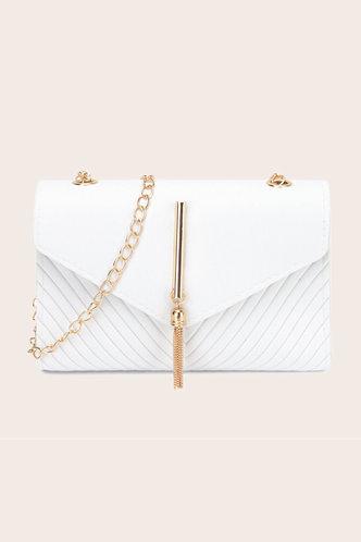 front_Wanda Esther White Crossbody Bag