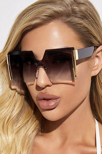 front_Tracy Elsie Grey Gradient Square Rimless Sunglasses