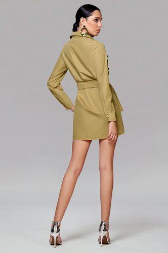 back_All Day Long Khaki Mini Dress