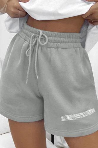 front_Lolita Emma Light Grey Shorts