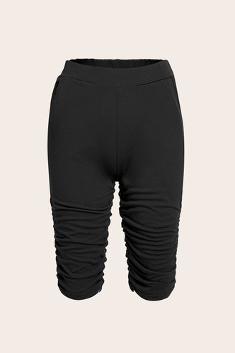 back_High Waist Black Shorts