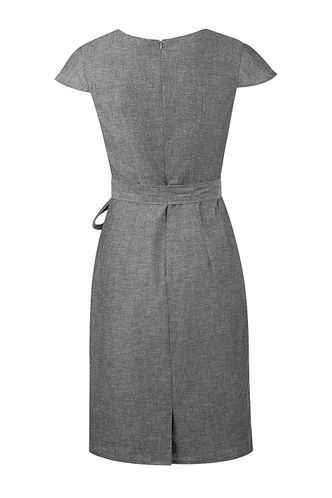 back_In The Atmosphere Washed Black Midi Dress