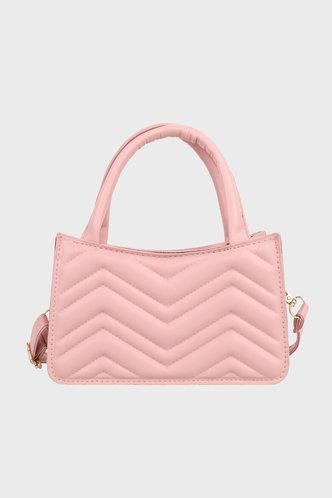 back_Sweet Business Plain Metallic Pink Satchels