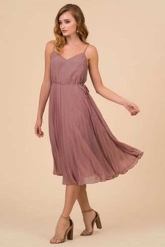 front_Enchanted Dusty Rose Midi Dress