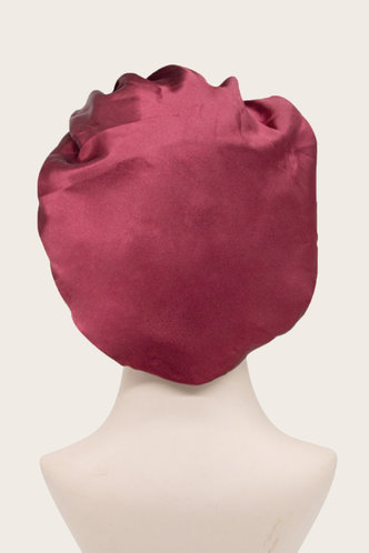 back_Beryl Flugil Wine Red Hair Bonnet