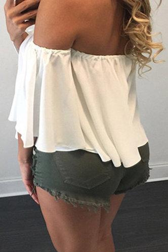 back_Alethea Eunice White Plus Size Blouse