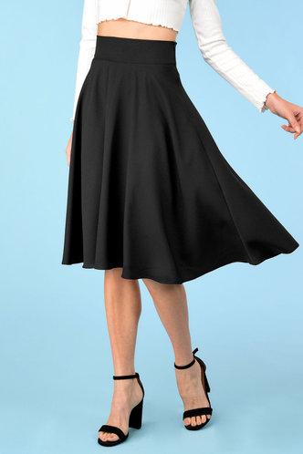 front_Worth It Black Skirt