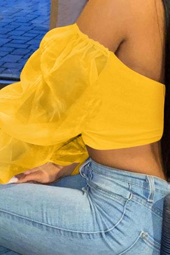 back_Romaine Evangeline Yellow Blouse