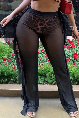 front_Lucilla Enid Black Mesh Pants
