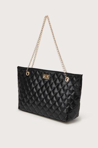 back_Lara Elma Black Tote Bag