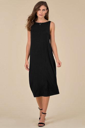 front_Alva Edwina Black Midi Dress