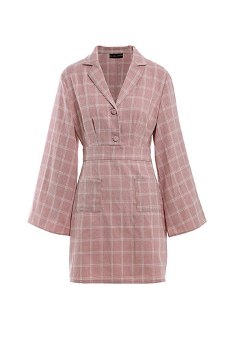 front_Beauty And The Beat Dusty Pink Shirt Dress