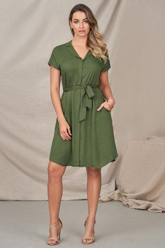 front_Wishful Thinking Army Green Midi Dress