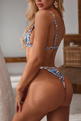 back_Caroline Eartha Leopard And Butterfly Print Bikini