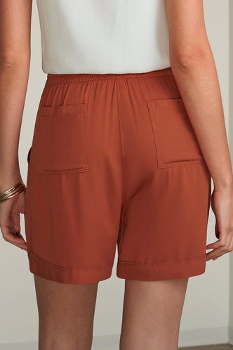 back_Turn Up the Heart Marigold Shorts