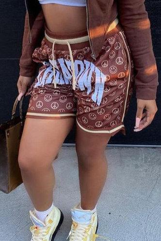front_Madge Elsie Brown Shorts