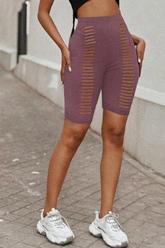 front_Chanel Elma Rusty Purple Biker Shorts